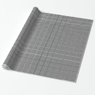Weiße schwarze elegante abstrakte geometrische geschenkpapier