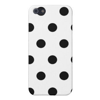 Weiße schwarze Tupfen - iPhone 5 Fall iPhone 5 Etui