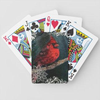 Weiße Spitze ursprünglicher Weihnachtsrot-Kardinal Bicycle Spielkarten