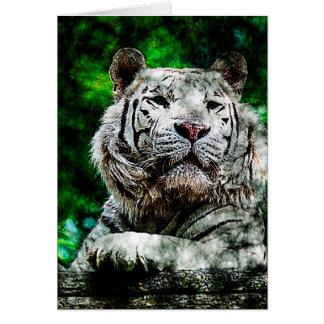 Weiße Tiger-gemischte Medien (v2) Grußkarte