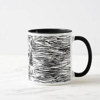 Weiße Tiger-Tasse Tasse