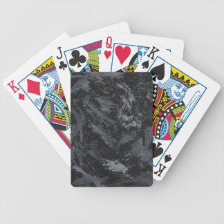 Weiße Tinte auf schwarzem #2 Bicycle Spielkarten