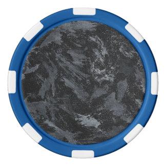 Weiße Tinte auf schwarzem #2 Poker Chip Set