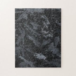 Weiße Tinte auf schwarzem #2 Puzzle