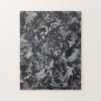 Weiße Tinte auf schwarzem #4 Puzzle