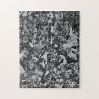 Weiße Tinte auf schwarzem Hintergrund #1 Puzzle
