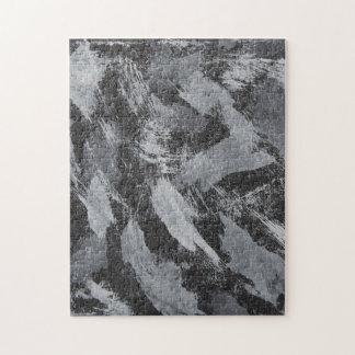 Weiße Tinte auf schwarzem Hintergrund #3 Puzzle