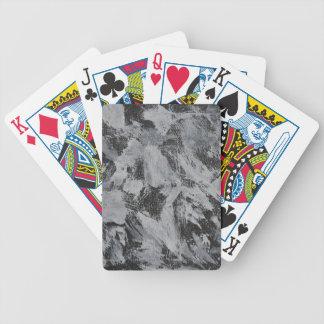 Weiße Tinte auf schwarzem Hintergrund #5 Bicycle Spielkarten