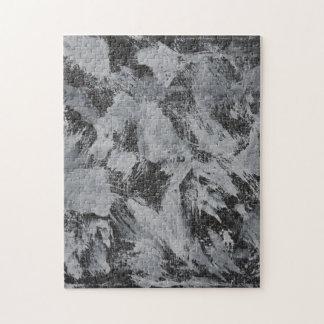 Weiße Tinte auf schwarzem Hintergrund #5 Puzzle