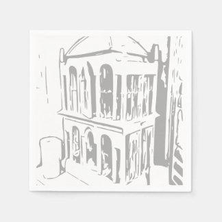 Weiße Vogelkäfig-Servietten Papierservietten