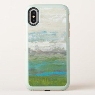 Weiße Wolken, die schöne Landschaft übersehen OtterBox Symmetry iPhone X Hülle