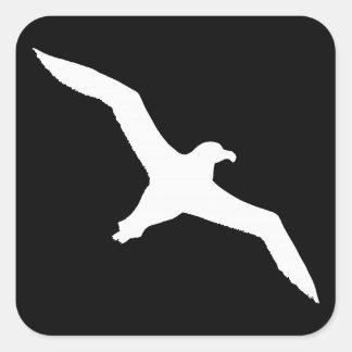 Weißer Albatros Quadratischer Aufkleber
