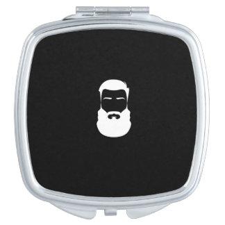 Weißer Bart-Quadrat-Vertrags-Spiegel Taschenspiegel