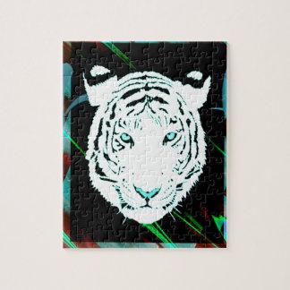 Weißer bengalischer Tiger auf einer Südwestart Bac Jigsaw Puzzles
