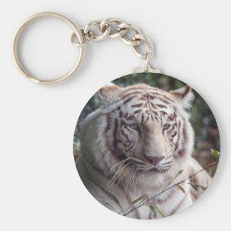 Weißer bengalischer Tiger Standard Runder Schlüsselanhänger