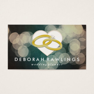 Weißer Bokeh | Wedding Event-Planer Visitenkarte
