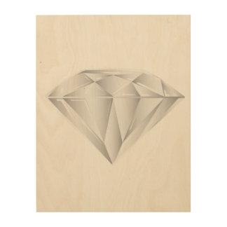Weißer Diamant für meinen Schatz Holzdrucke
