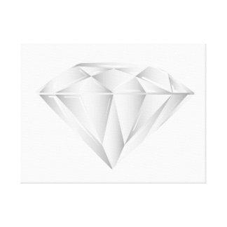 Weißer Diamant für meinen Schatz Leinwanddruck