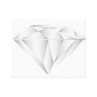 Weißer Diamant für meinen Schatz Leinwanddrucke