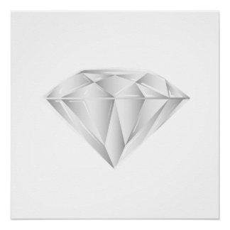 Weißer Diamant für meinen Schatz Perfektes Poster