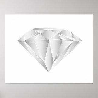 Weißer Diamant für meinen Schatz Poster
