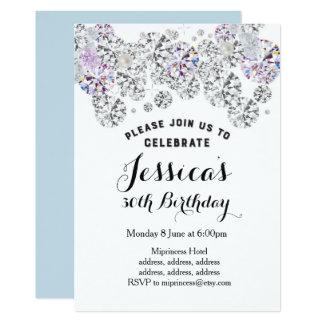 WEISSER eleganter Diamant, 12,7 X 17,8 Cm Einladungskarte