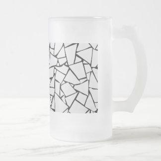 Weißer Felsen-Stein Mattglas Bierglas