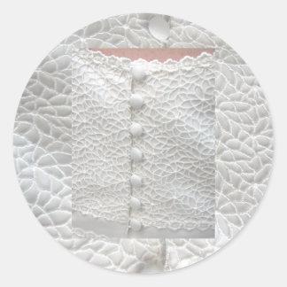 Weißer Hochzeits-Kleideraufkleber - kundengerecht