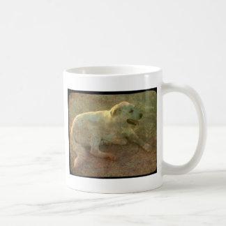 Weißer Hund Tasse