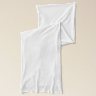 Weißer Jersey-Schal Schal