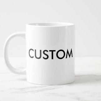 Weißer Kaffee-Tasse des Gewohnheits-sehr große Jumbo-Tasse