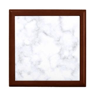 Weißer Marmor Erinnerungskiste