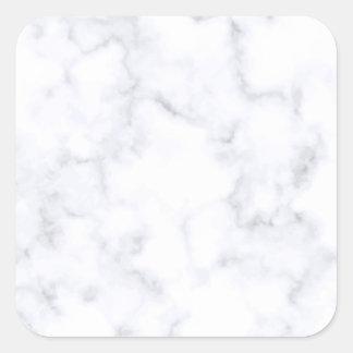 Weißer Marmor Quadratischer Aufkleber