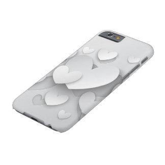 Weißer Popup- Herzen kaum dort iPhone 6 Kasten Barely There iPhone 6 Hülle