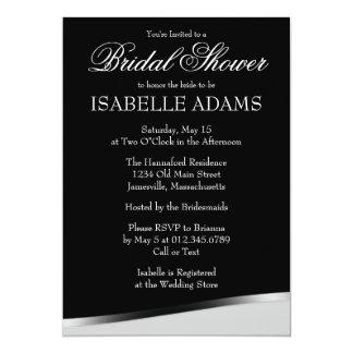 Weißer Text auf schwarzer Brautparty-Einladung 12,7 X 17,8 Cm Einladungskarte