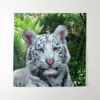 Weißer Tiger Wandteppich