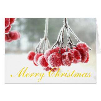 Weißer Umschlag des Weihnachtsgruß-Karten-Stands Karte