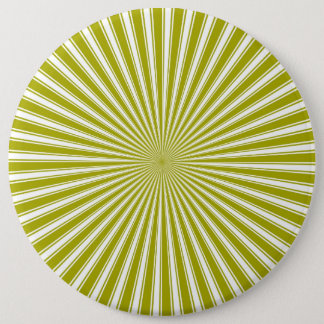 Weißer und Limoner Funky gestreifter abstrakter Ku Runder Button 15,3 Cm