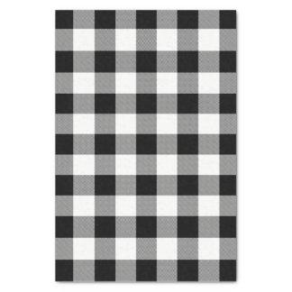 Weißer und schwarzer Büffel-Karo kariert - Seidenpapier