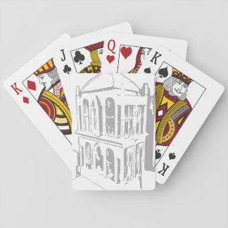 Weißer Vogelkäfig-Spielkarten Spielkarten