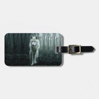 Weißer Wolf - arktischer Wolf - Schneewolf Kofferanhänger