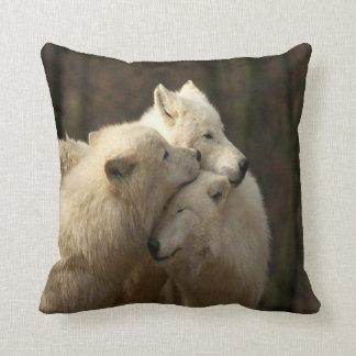 Weißer Wolfsrudel Kissen