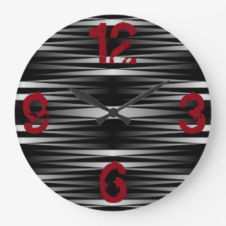 Weißer Zebra entwarf Uhr Große Wanduhr