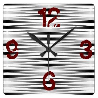 Weißer Zebra entwarf Uhr Quadratische Wanduhr
