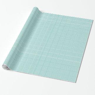 Weißes Aqua-elegante abstrakte geometrische Geschenkpapier