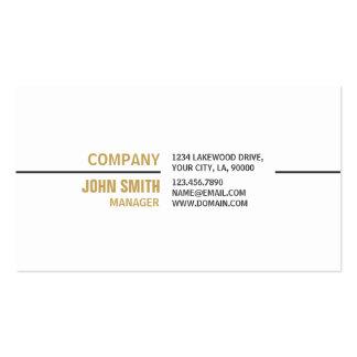 Weißes berufliches einfaches elegantes wirkliches visitenkarten