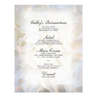 Weißes BlumenQuinceañera Menü