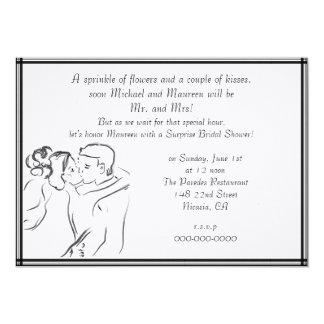 Weißes Brautparty 12,7 X 17,8 Cm Einladungskarte