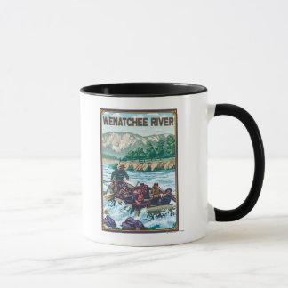 Weißes flößendes Wasser - Wenatchee Fluss, Tasse