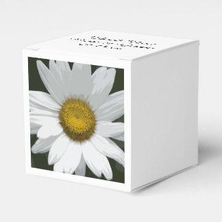 Weißes Gänseblümchen-Blumen-Hochzeit Geschenkschachtel